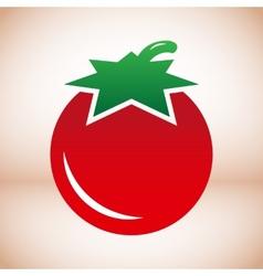 Tomato symbol vector image vector image