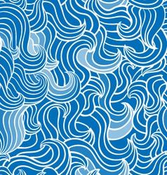 Wave blue pattern vector image vector image
