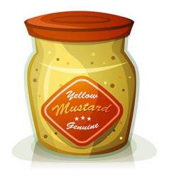 yellow mustard pot vector image