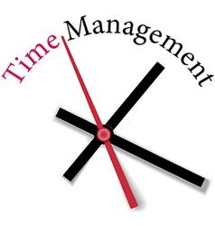 Efficient time management clock work vector image vector image