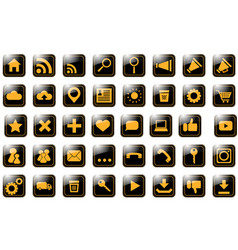 icon site orange on black vector image