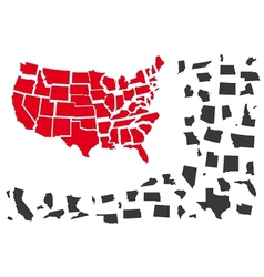 USA puzzle vector image
