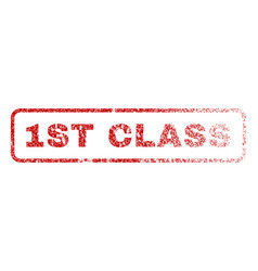 1st class rubber stamp vector