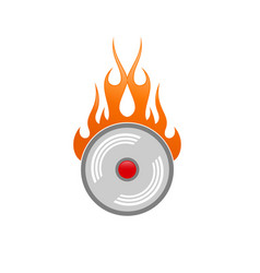 alarm fire clock icon vector image