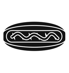 american hot dog icon simple style vector image