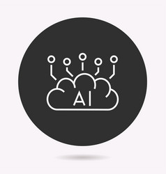 artificial intelligence - icon vector image
