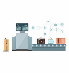 Baggage check custom scanner vector