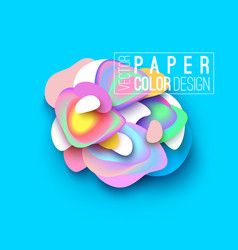 Banner layout design paper cut style vector