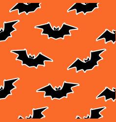 bat seamless pattern halloween design black vector image