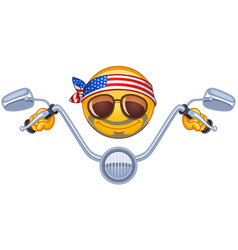 biker emoticon vector image