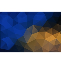 Blue yellow abstract geometric rumpled triangular vector