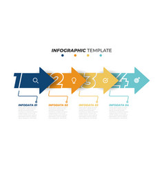 business infographics with 4 steps or options vector image