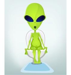 Cartoon Toilet Alien vector