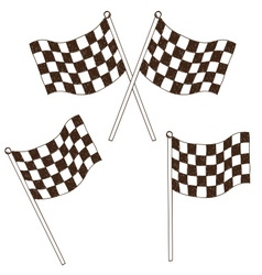 Checkered flag drawing vector image