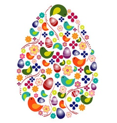 Colorful egg shape vector