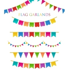 Colorful Garlands vector