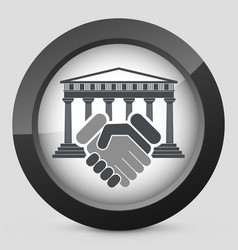 Courthouse agreement vector