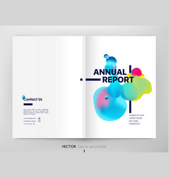 cover design annual report liquid color fluid vector image