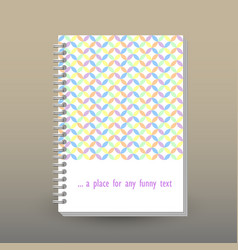 Cover of diary cute pastel geometrical pattern vector