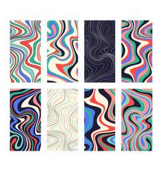 Creative ripple vertical backgrounds set in hippie vector