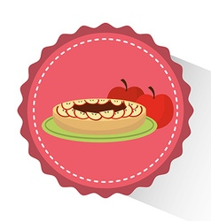 delicious cake design vector image