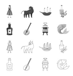 Design and historic logo collection of vector