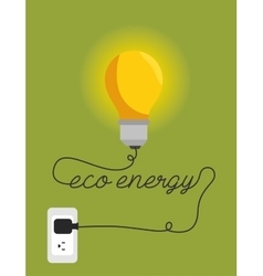 Eco energy environment design isolated vector