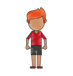 faceless young boy cartoon vector image