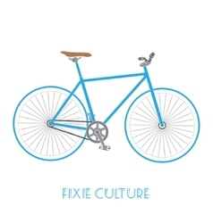 Fixed gear bicycle culture isolated vector