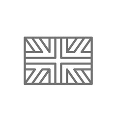 flag great britain england line icon vector image