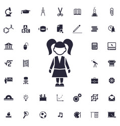 Girl pupil icon vector