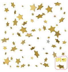 gold star confetti rain festive holiday vector image