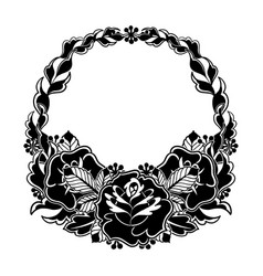 Graphic floral wreath vector