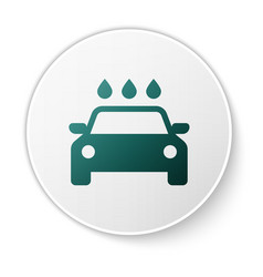 Green car wash icon isolated on white background vector