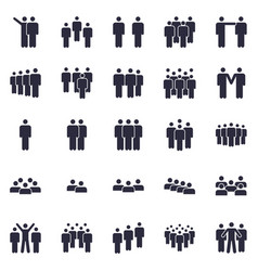 groups persons icon business team person vector image