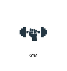 gym icon simple element gym concept vector image