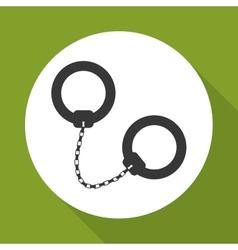 Handcuffs icon design vector