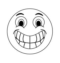 Happy grin emoji instant messaging icon imag vector