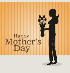 happy mothers day-mom bouquet flowers vector image
