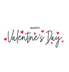 happy valentines day happy valentines day vector image