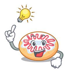 Have an idea jelly donut mascot cartoon vector