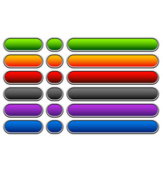 horizontal buttons with blank space rounded vector image