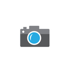 icon camera flat style design photo shooting vector image