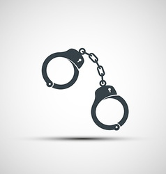 Icons of handcuffs vector