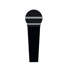 isolated flat microphone vector image