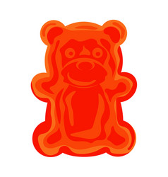 jelly bear icon cartoon style vector image