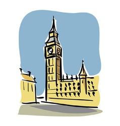London Big Ben vector image