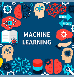 Machine learning paper template poster vector