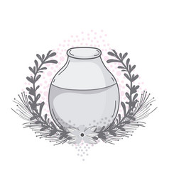 Mason jar with wreath vector