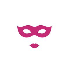 Masquerade ball venetian party mask logo vector